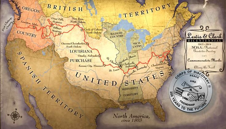 Corps of Discovery--Lewis and Clark---Circa 1803