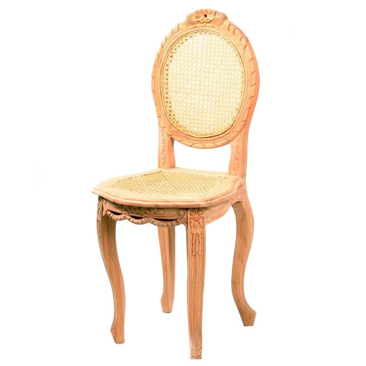 Louis Petite Chair with Rattan Seat and Back - Fabulous French Furniture
