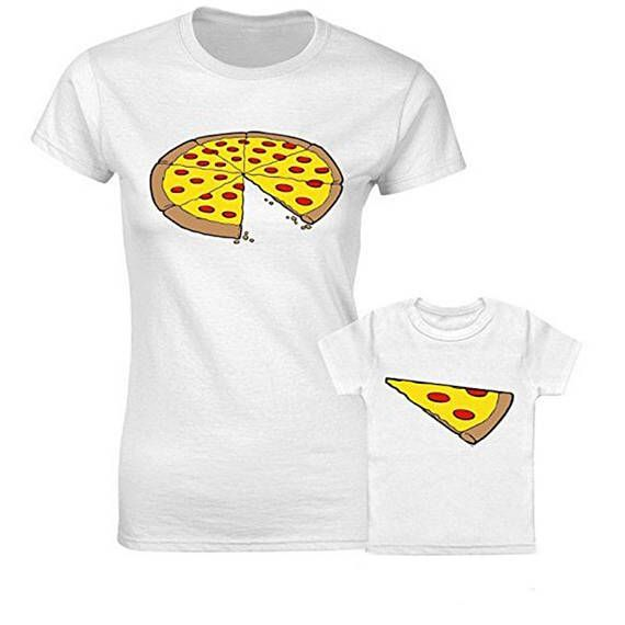 FAMILY Mother and Daughter Father and Son Pizza Tshirt One