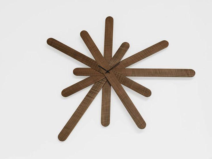 Wall-mounted clock WOODCLOCK - HORM.IT