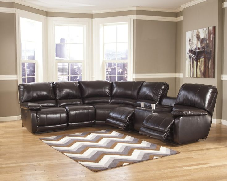 Get Your Capote DuraBlend®   Chocolate 4 Pc. Reclining Leather Sectional At  Railway Freight Furniture, Albany GA Furniture Store.