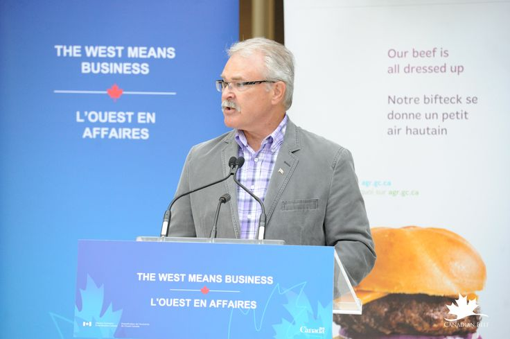 Minister of Agriculture Gerry Ritz announce funding to support the establishment of the Canadian Beef Centre for Excellence. #CdnbeefCentre