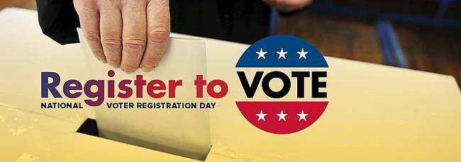 National Voter Registration Day is on Sept. 23, 2014.