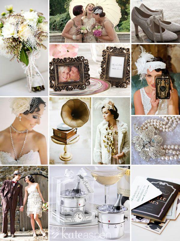 Roaring 20s Wedding Inspiration - Kate Aspen http://bridalresources.theaspenshops.com/