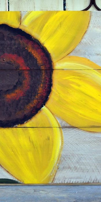 How to paint an easy Sunflower, super fun and simple to do. Paint on inexpensive…