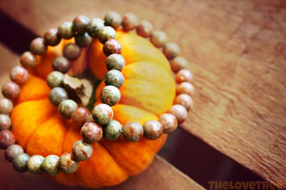 Autumn Jasper Bracelet to stay grounded, connected with the Earth, and look to the future. ♥