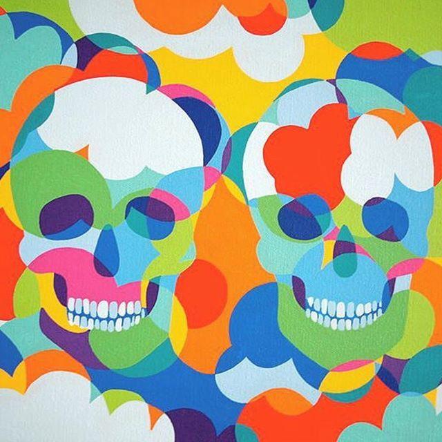 PUSTAKA DESAIN  Rekan kreatif suka bermain dengan warna?  Seniman bernama Lourdes Villagomez ini bisa jadi inspirasi kita selanjutnya. Lukisannya memakai warna cerah serta gaya 'clean' dan geometris; kerennya lagi subjek dari karya seni Villagomez diambil dari budaya dan tradisi di negaranya sendiri Meksiko. Gambar di atas misalnya diambil dari sugar skulls dalam hari besar di Meksiko Day of the Dead.  Villagomez yang berlatarbelakang desain grafis ini mengatakn bahwa kesenian Meksiko sudah…