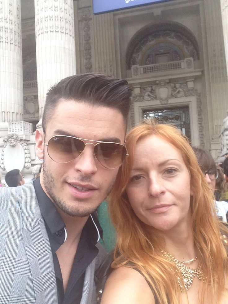 With Baptiste Giabiconi