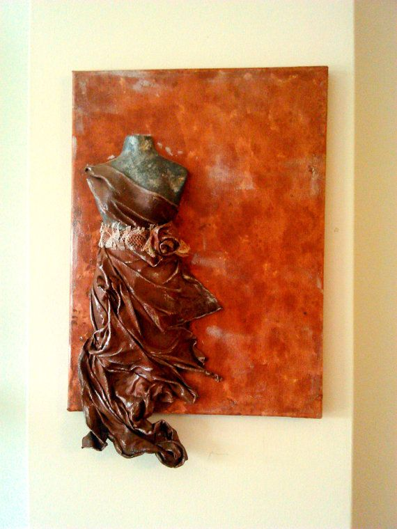 free shipping sculpture wall art 3D panel canvas by MissYounique, $119.00