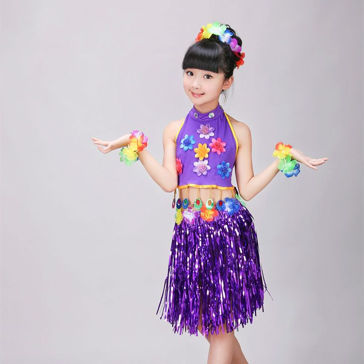 >> Click to Buy << Hawaiian Grass Skirt Kit Hula Mini Skirt /top Party Dress Costume Event & Party Supplies Gift for Girls Belly Dance Skirt #Affiliate