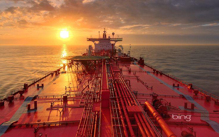 Tanker Ships Oil Tanker Ship Boat Sun Set Sunrise Sun Bing   HD Astounding Wallpaper