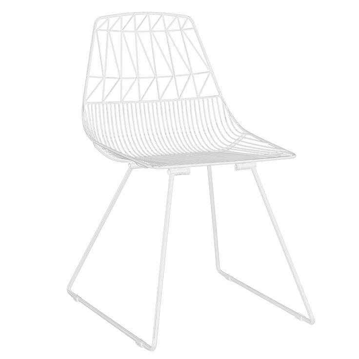 Metal chair Morena white