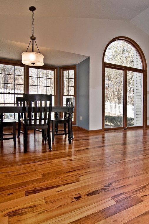 Foyer Tile Quotes : Tigerwood hardwood floor for our great room foyer and