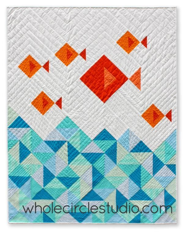 Looking for your next project? You're going to love Little Fishies Quilt by designer wholecircle.