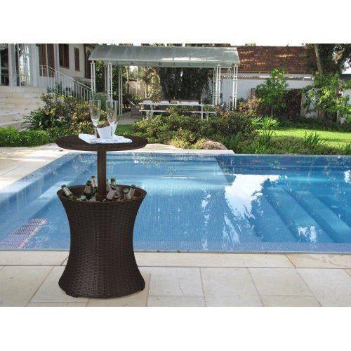 Table For Garden Pool Bar Cooler Outdoor Activity Brown | Home & Garden, Yard, Garden & Outdoor Living, Garden Décor | eBay!