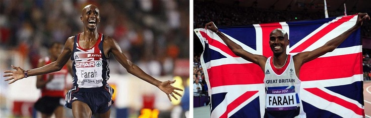 Olympic Games gold medalist: Mo Farah of Great Britain.