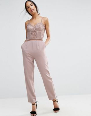 ASOS Jumpsuit with Delicate Lingerie Detail