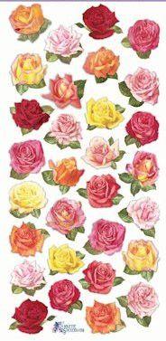 Mini Roses Victorian Stickers