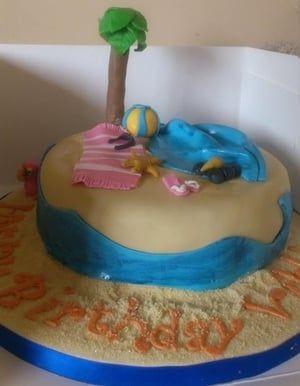 Beach tropical cake