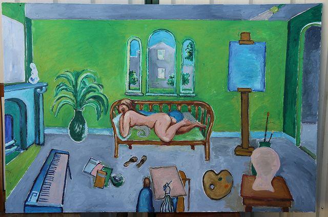 Reclining nude in Green Studio | Flickr - Photo Sharing!