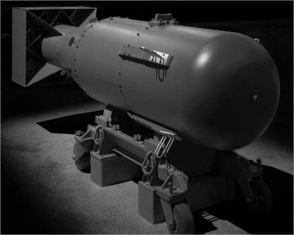 """1945, Little Boy (Hiroshima Atomic Bomb) """"Little Boy"""" was the code name for the atomic bomb dropped on Hiroshima on August 6, 1945 by the Boeing B-29 Superfortress Enola Gay, piloted by Colonel Paul Tibbets of the 393rd Bombardment Squadron, Heavy, of the United States Army Air Forces. It was the first atomic bomb to be used as a weapon. The second, the """"Fat Man"""", was dropped three days later on Nagasaki."""