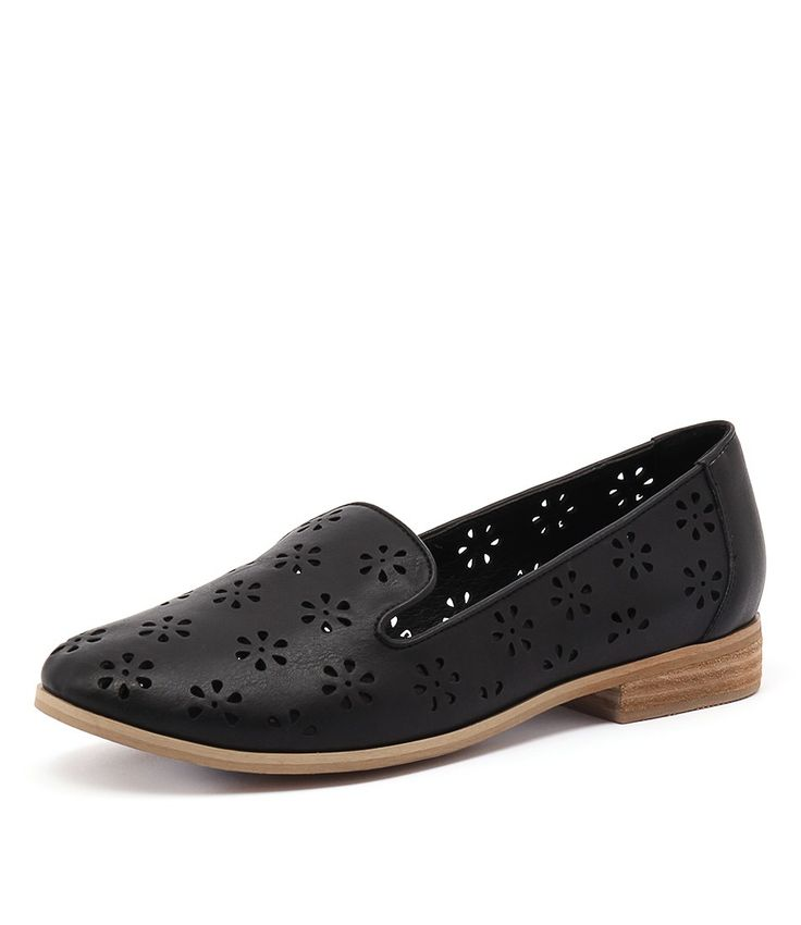 Featuring decorative cut-out details, this simple loafer will be a lovely addition to any shoe collection. Stylish and on trend, this shoe will complement pretty prints, denim pieces, and tailored separates. Shop 'Quinn Black' by I Love Billy at styletread.com.au