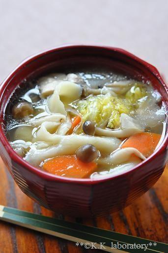 受験生応援レシピ!野菜だしで作るひっつみ汁