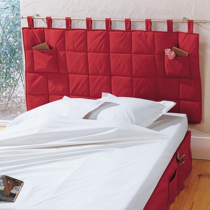 Tête de lit matelassée à poches #Blancheporte