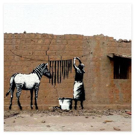 hanging zebra stripes: Canvas Walls, Shrinks, Canvas Wall Art, Banksy Hanging Zebra, Zebra Stripes, Hanging Washed, Zebras, Washed Zebra