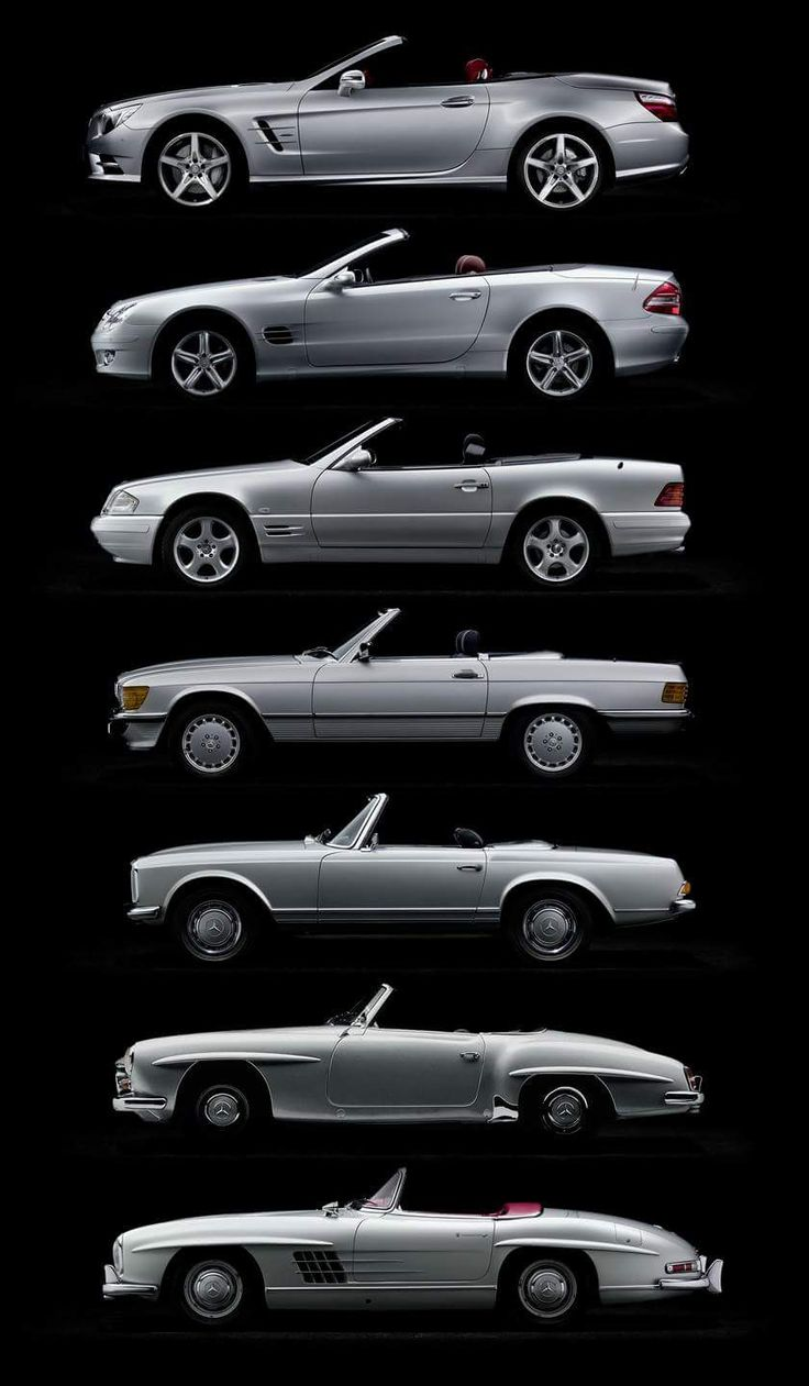 Cool Car Photos  58 years of the SL