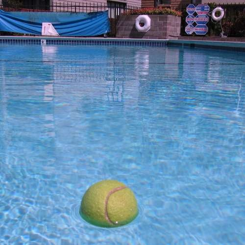 Tennis balls for pool cleaning