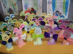 toilet paper roll bunny craft idea
