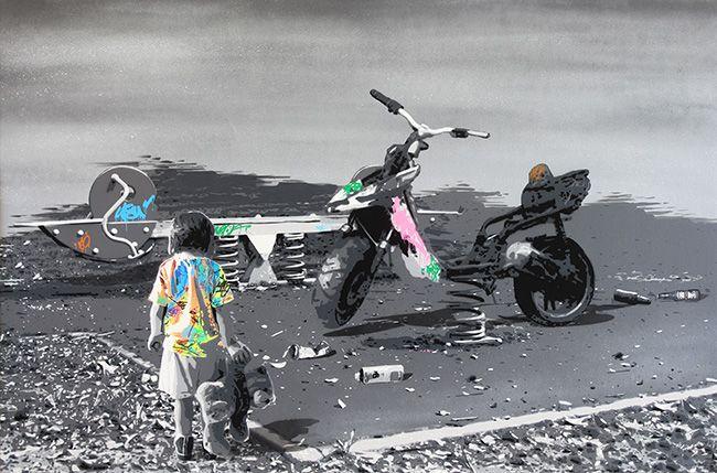 "KURAR street artist artwork named "" RODEO "" more details on ; kurar.fr/#home"
