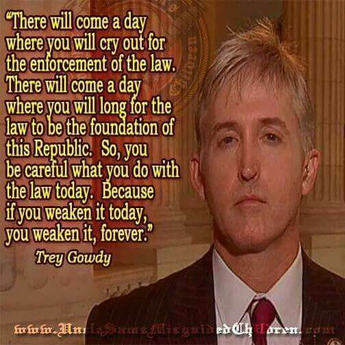 Trey Gowdy commenting on the change OBAMA and the Democrats are slowly making to America.