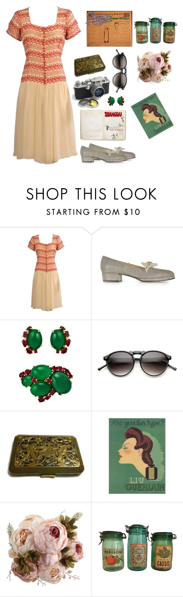 """""""Abyssinia"""" by hchfashion ❤ liked on Polyvore featuring Zoe Lee, Leica, ZeroUV, Guerlain and Bonnie Clyde"""