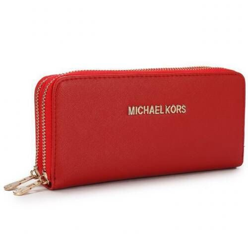 Michael Kors Saffiano Continental Large Red Wallets is on clearance sale,  the world lowest price.