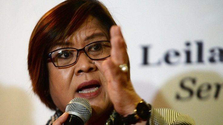 Leila de Lima is a Philippine senator bent on challenging controversial president Rodrigo Duterte.