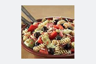 #kraftrecipes Italian Antipasto Pasta Salad recipe  Oddly enough my kids love this one too!  I am not a fan of Black olives, but luckily the kids eat them right up! Great for any party!