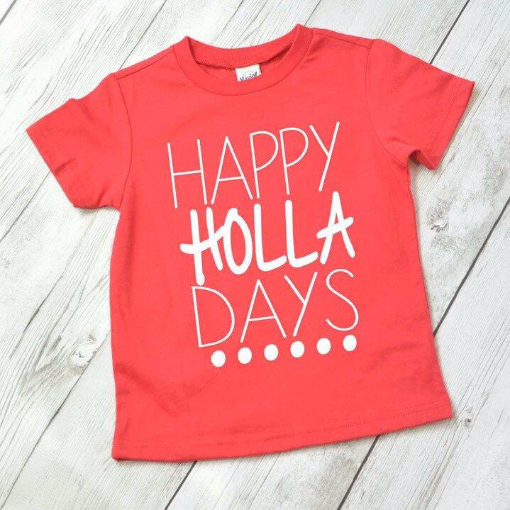 Kids Christmas shirt, funny Christmas shirt, Happy Holla Days shirt, Christmas shirt for kids, Christmas shirt for boys by ShopHartandSoul on Etsy https://www.etsy.com/listing/484954633/kids-christmas-shirt-funny-christmas