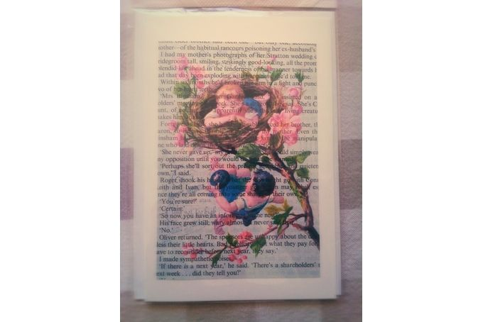 Upcycled Antique Book Print Gift Card by Amy Lauren Creations...Upcycle Gifts & Decor