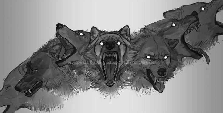Картинки волков с открытой пастью референс