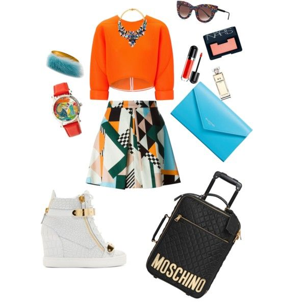 A fashion look from February 2015 featuring Maticevski tops, MSGM skirts and Giuseppe Zanotti sneakers. Browse and shop related looks.
