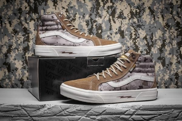 Vans Defcon Syndicate Sk8 Hi Classic Camo Brownness White