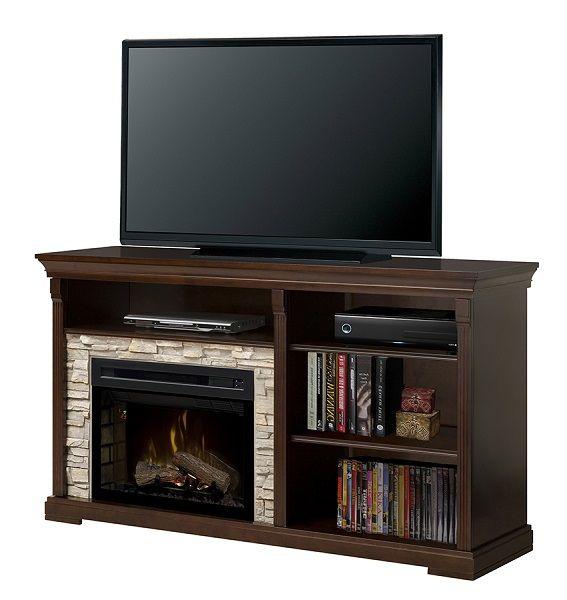 Dimplex Edgewood electric fireplace media cabinet; $1099 cdn.