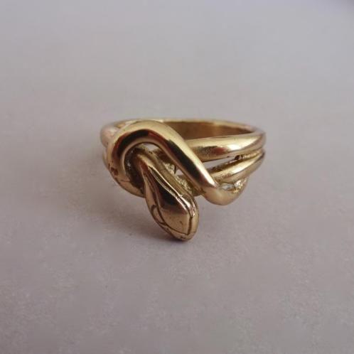 verkopers.marktplaats.nl/7443487 #Vintage 70's verguld #zilver #Slang #slangen #ring #goud klr. #sieraden #vintagesieraden #juwelen