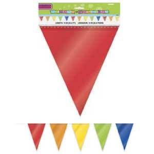 No 136 - Pennant Big Flag Banner Rainbow (A Huge 10 Metres Long!) Each Pennant Measures approx 24cm Wide x 30cm High. For more details, go to our facebook page: www.facebook.com/popitinaboxbusiness
