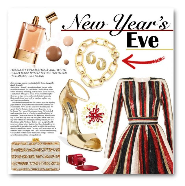 """""""NYE Dance Party"""" by jessinerio4l ❤ liked on Polyvore featuring Chloé, Zuhair Murad, Michael Kors, Dolce&Gabbana, Michael Aram, Edie Parker, Lumière, Zoya and nyestyle"""