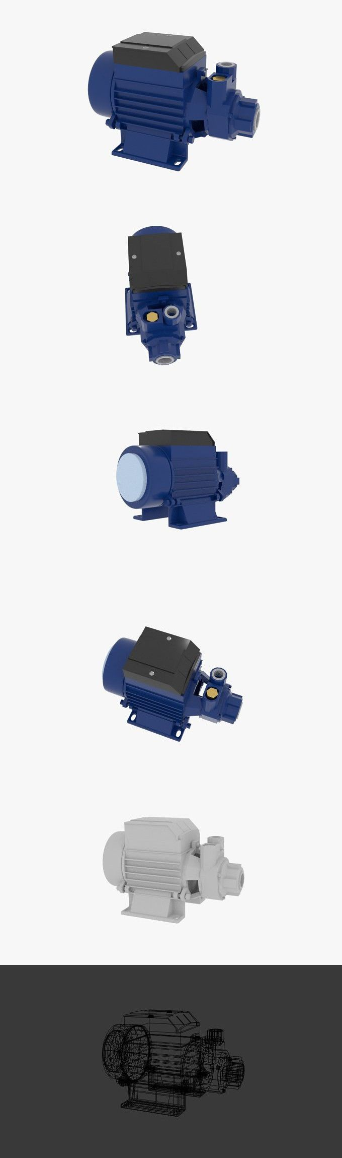 Half HP Electric Water Pump. 3D Objects