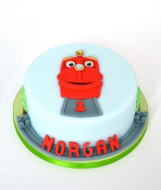 Chuggington birthday cake - Wilson rides the rails! by madebymariegreen, via Flickr
