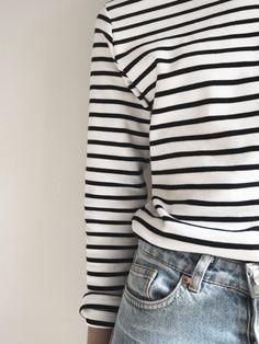 black and white shirt, striped top, stripes fashion, french style Armor Lux Breton Striped top